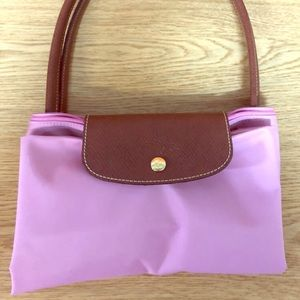 Longchamp Large Le Pliage Tote Pink